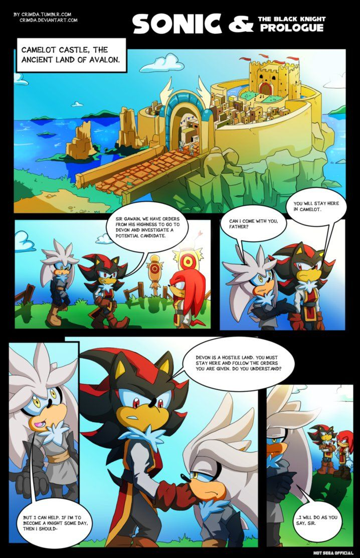 Sonic and The Black Knight: Prologue - 1 1 by CrimDa on DeviantArt
