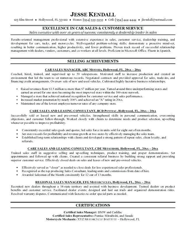 car resume examples  resume examples sales resume
