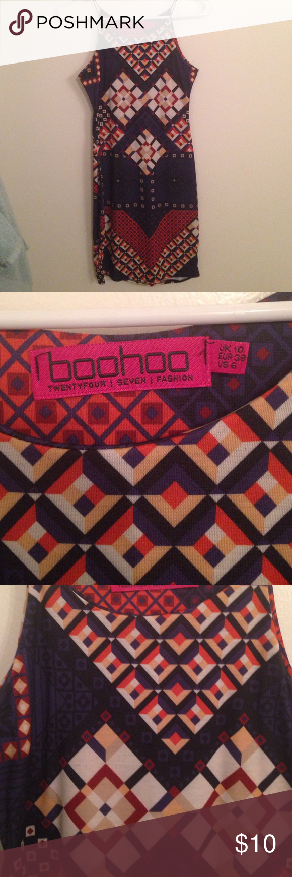 Boohoo Bodycon Dress Size 6 Boohoo Bodycon dress. Took off the tag, but has never been worn. Boohoo Dresses Mini