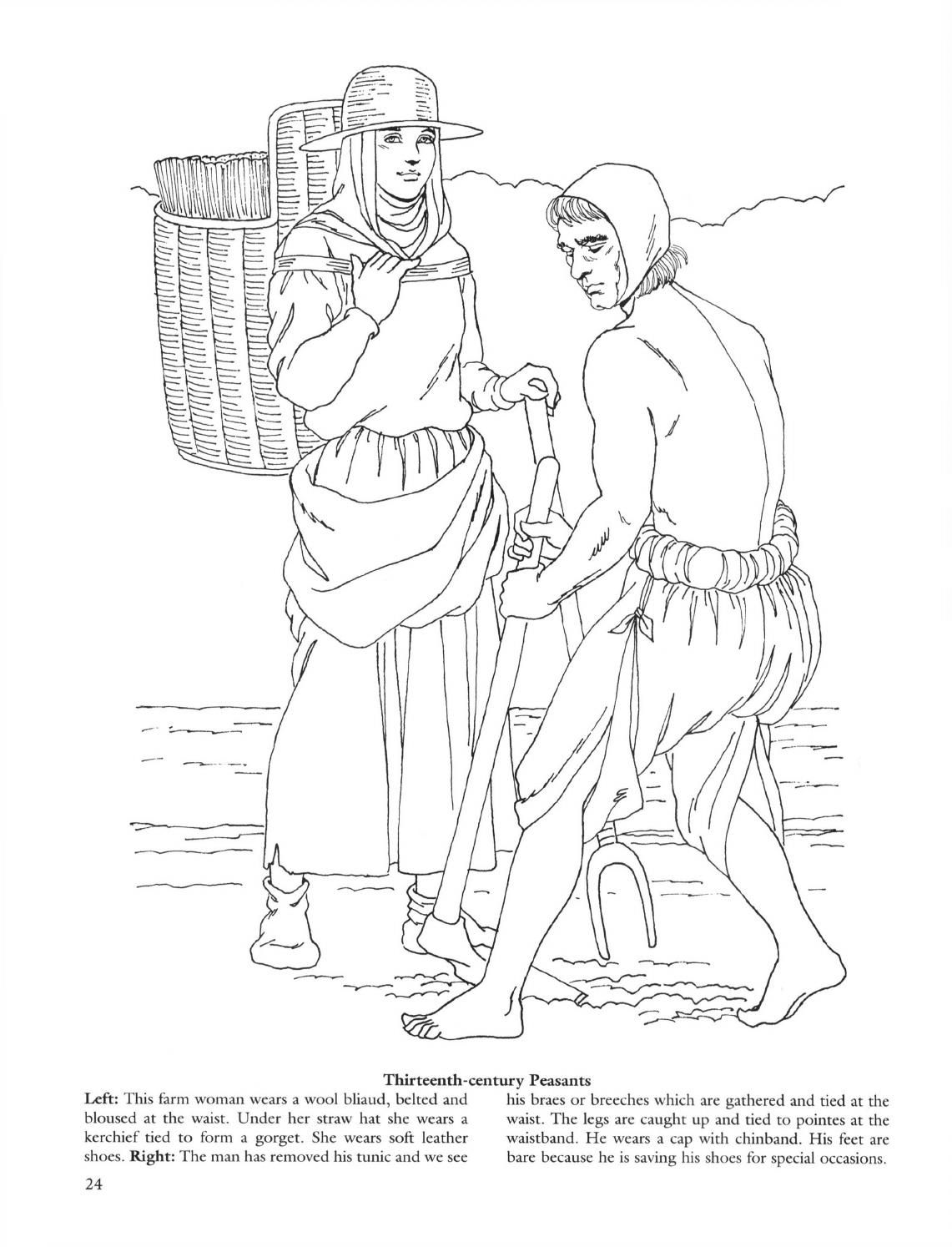 Medieval fashions coloring book | Fashion coloring book ...