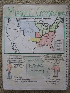 Great US History Interactive Notebook Ideas Ohmohamed Licensed - Missouri compromise interactive map