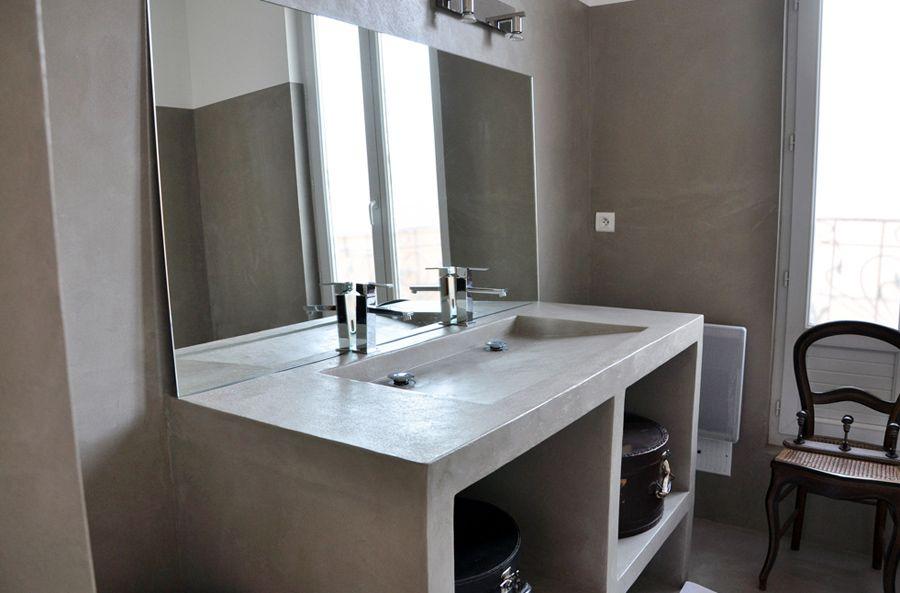 salle de bain en b ton cir b ton cir salle de bains. Black Bedroom Furniture Sets. Home Design Ideas