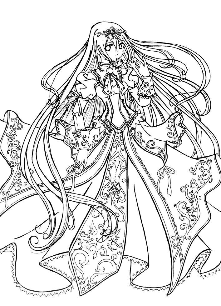 Anime Princess Coloring Page Printable Princess Coloring Pages Princess Coloring Coloring Pages