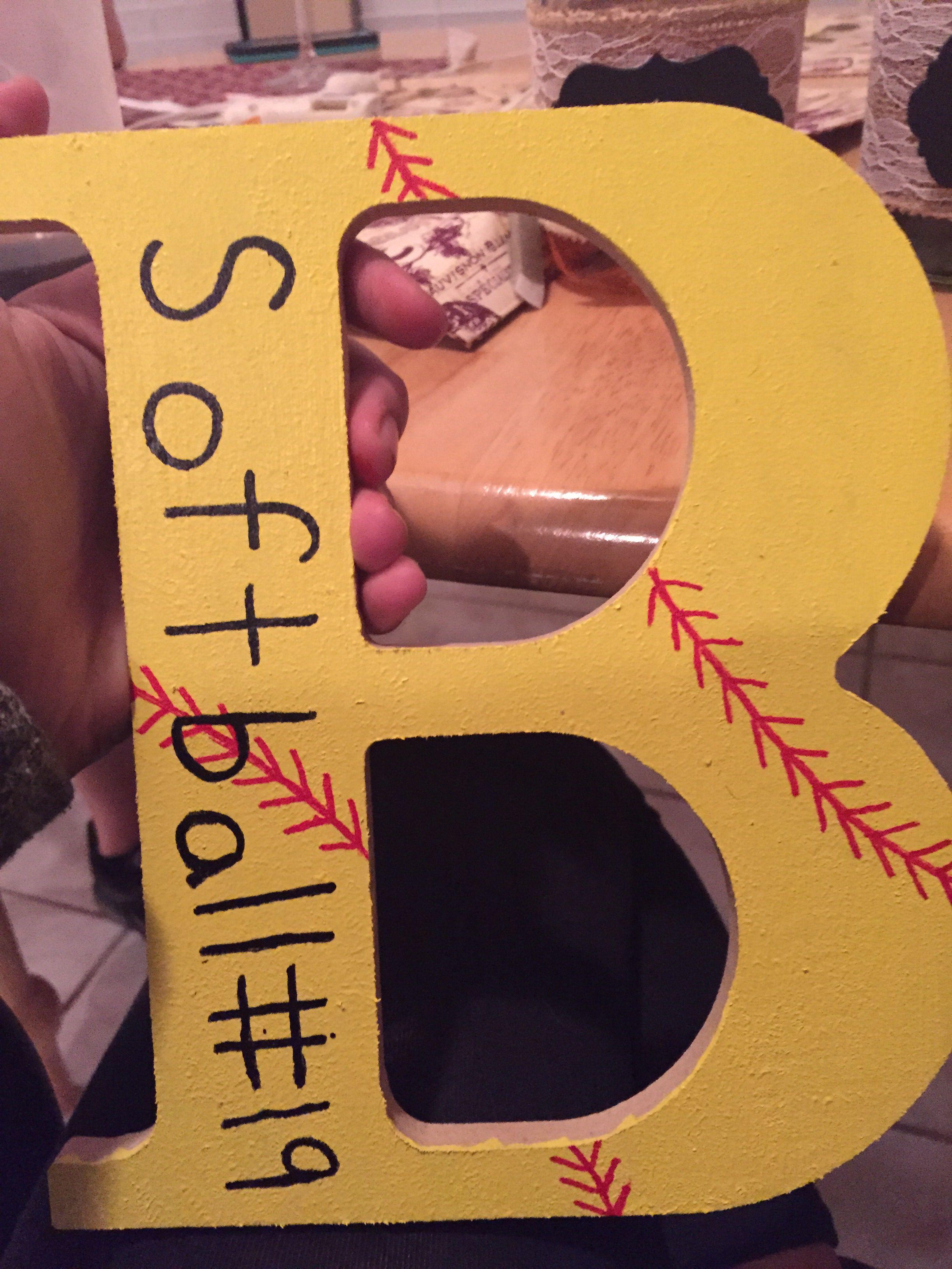 Easy diy softball crafts