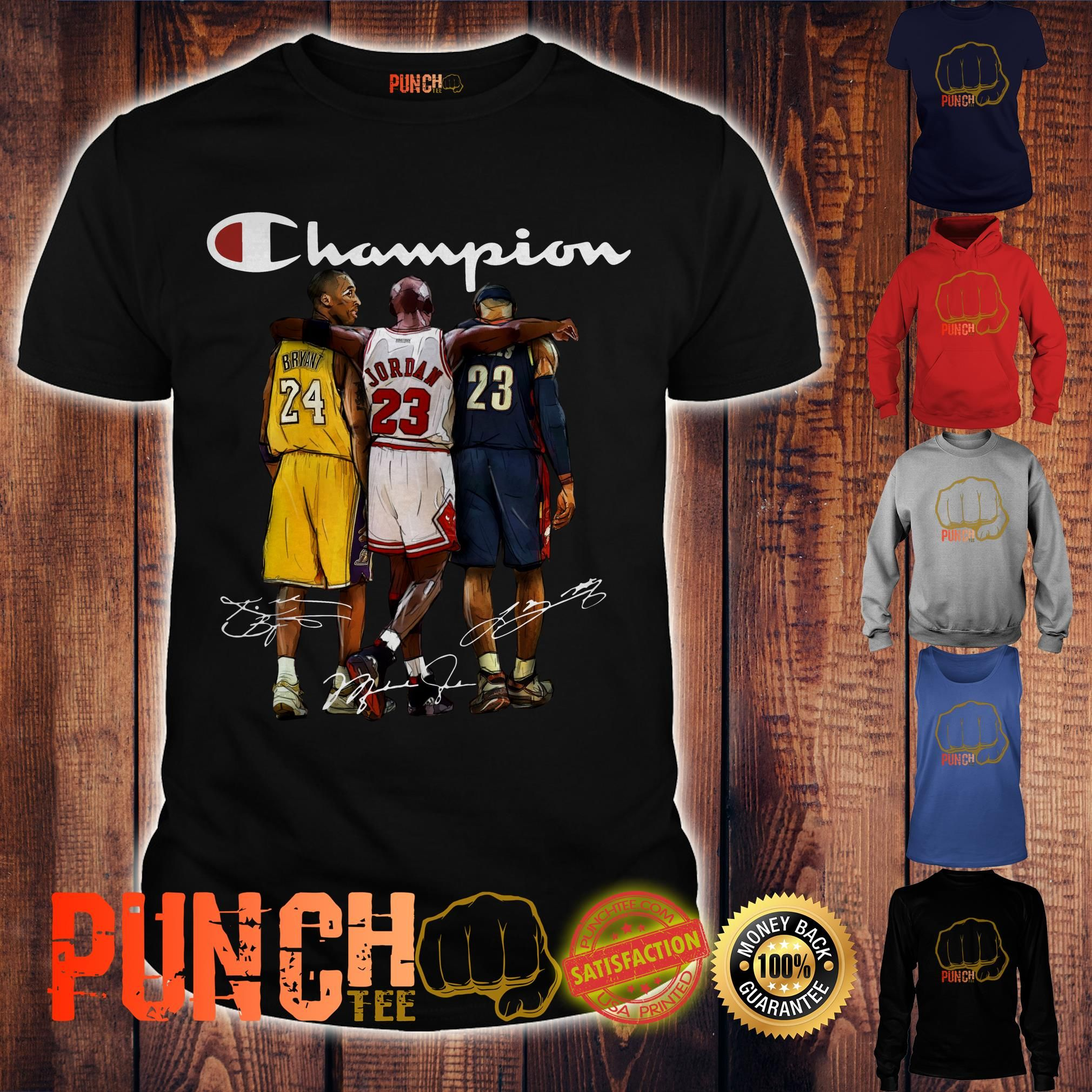 Michael And Signature Lebron Bryant Shirt Jordan James Kobe Champion kZiXPu