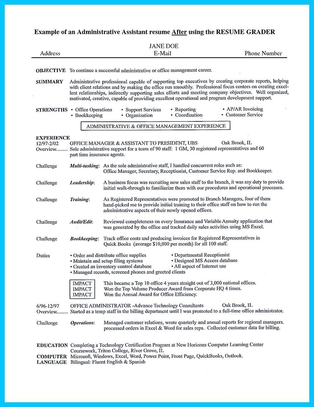 Audit Associate Resume Brilliant In Writing Entry Level Administrative Assistant Resume You Need To .