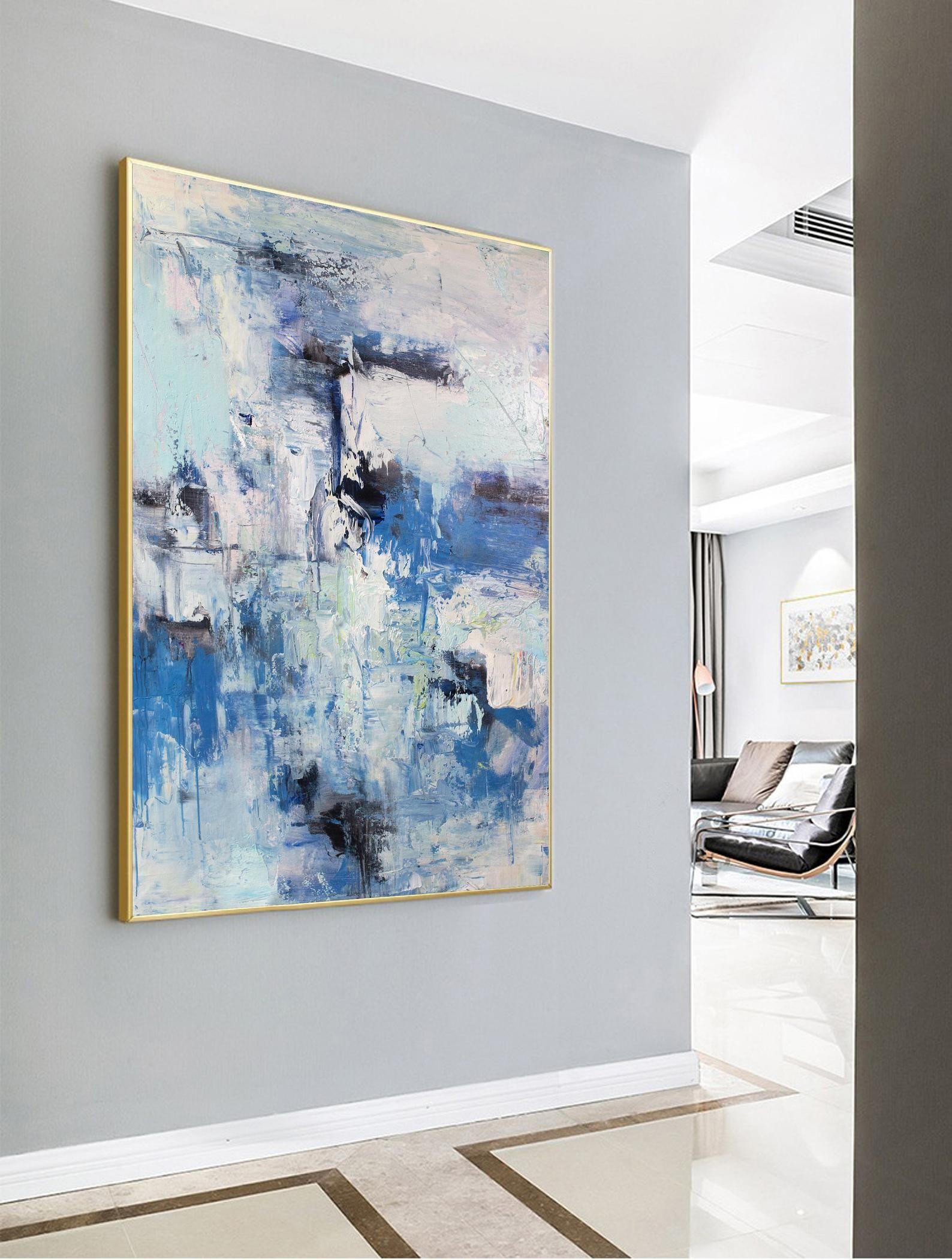 Acrylic Painting Large Abstract Art Original Blue Sky Abstract Painting Cloud Abstract Painting Large Canvas Art Acrylic Paintings On Canvas I 2020