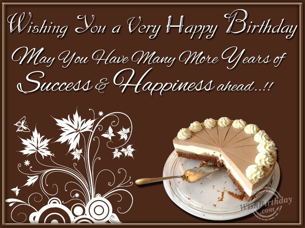 Happy birthday wishes wishing you happiness and success on your happy birthday wishes colleague kristyandbryce Images