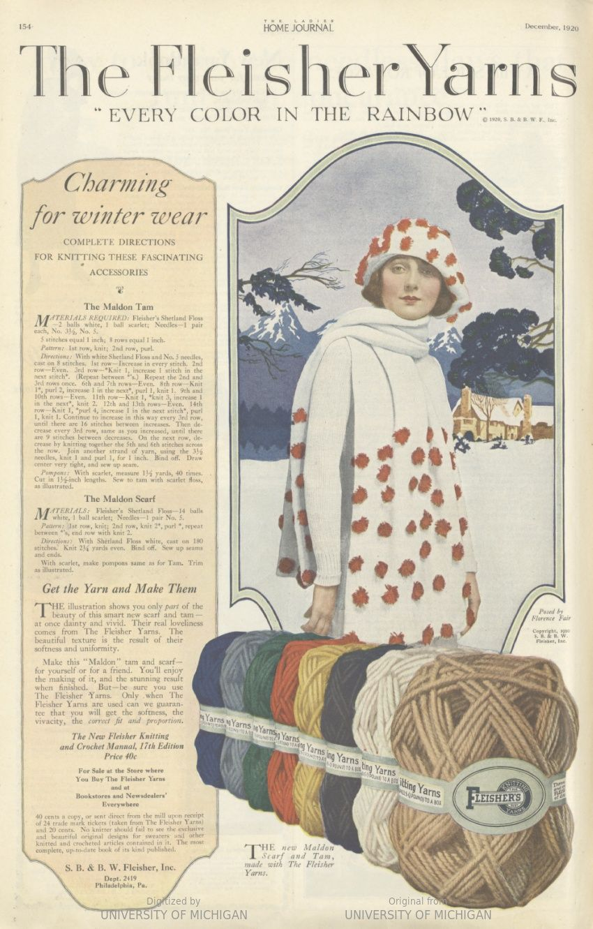 Free vintage knitting pattern from 1920 for an adorable ...