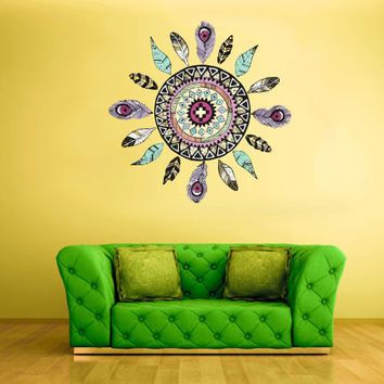 Full Color Wall Decal Mural Sticker Dream Catcher Dreamcatcher Art  Paintings American Native (col153)
