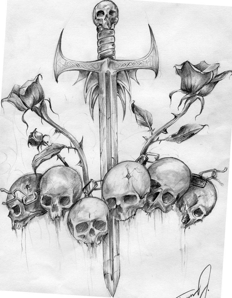 Free Skull Tattoo Designs Skulls Drawing Skull Tattoo Design Skull Art