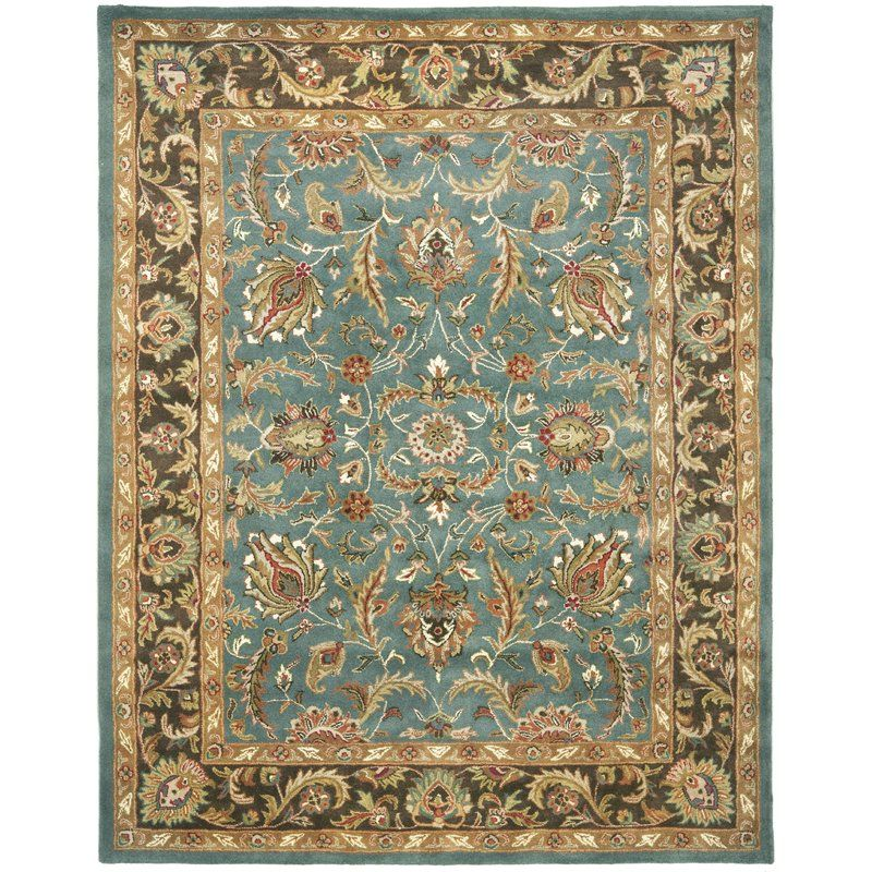 Cranmore Traditional Hand Tufted Wool Blue Brown Area Rug Wool