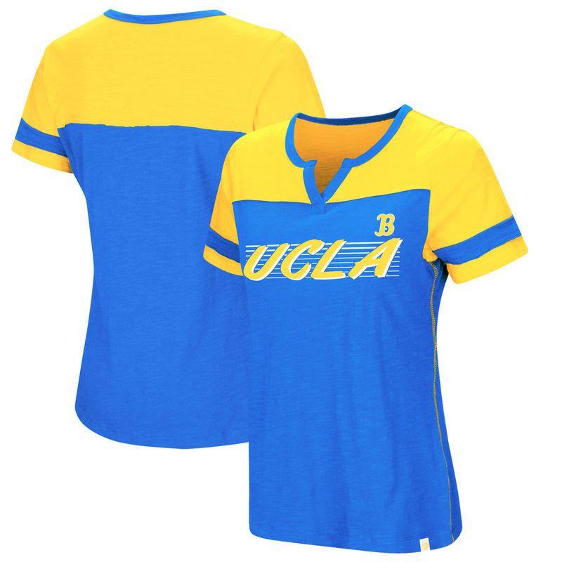 UCLA Bruins Colosseum Women s Coach V-Notch T-Shirt – Blue ... 1fb1d297f