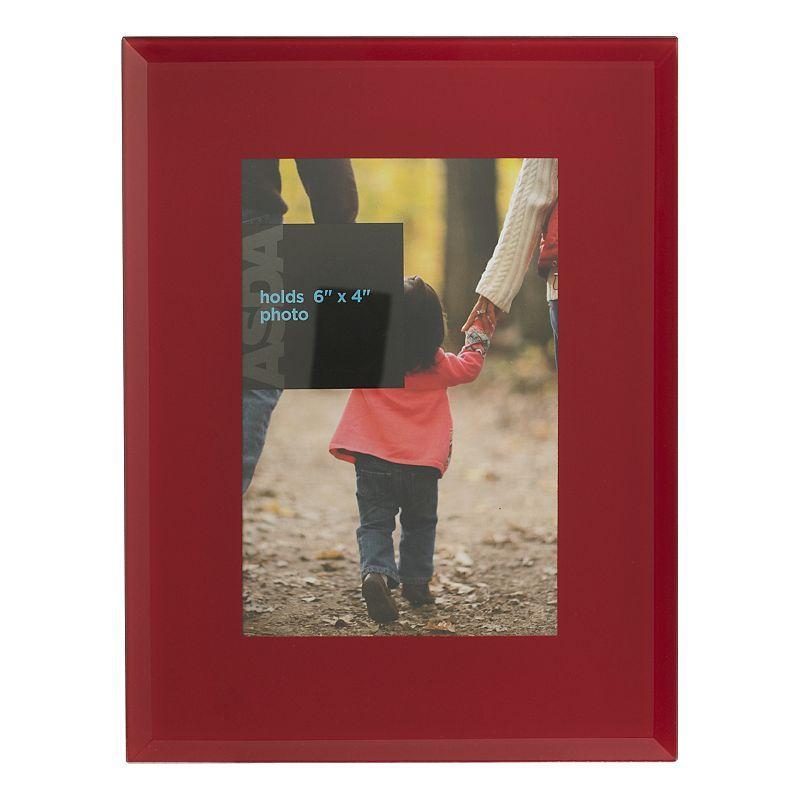 ASDA Red Glass Frame - 6x4 Inch | Our Livingroom Refurb | Pinterest