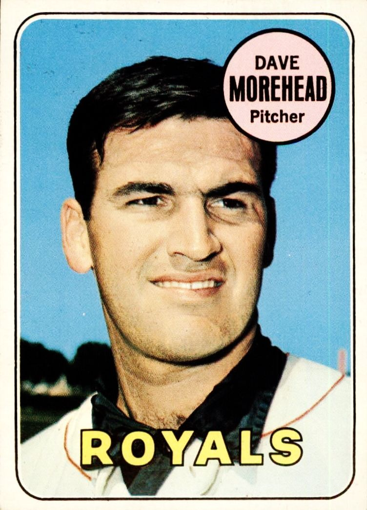 Image result for 1969 dave morehead baseball card images