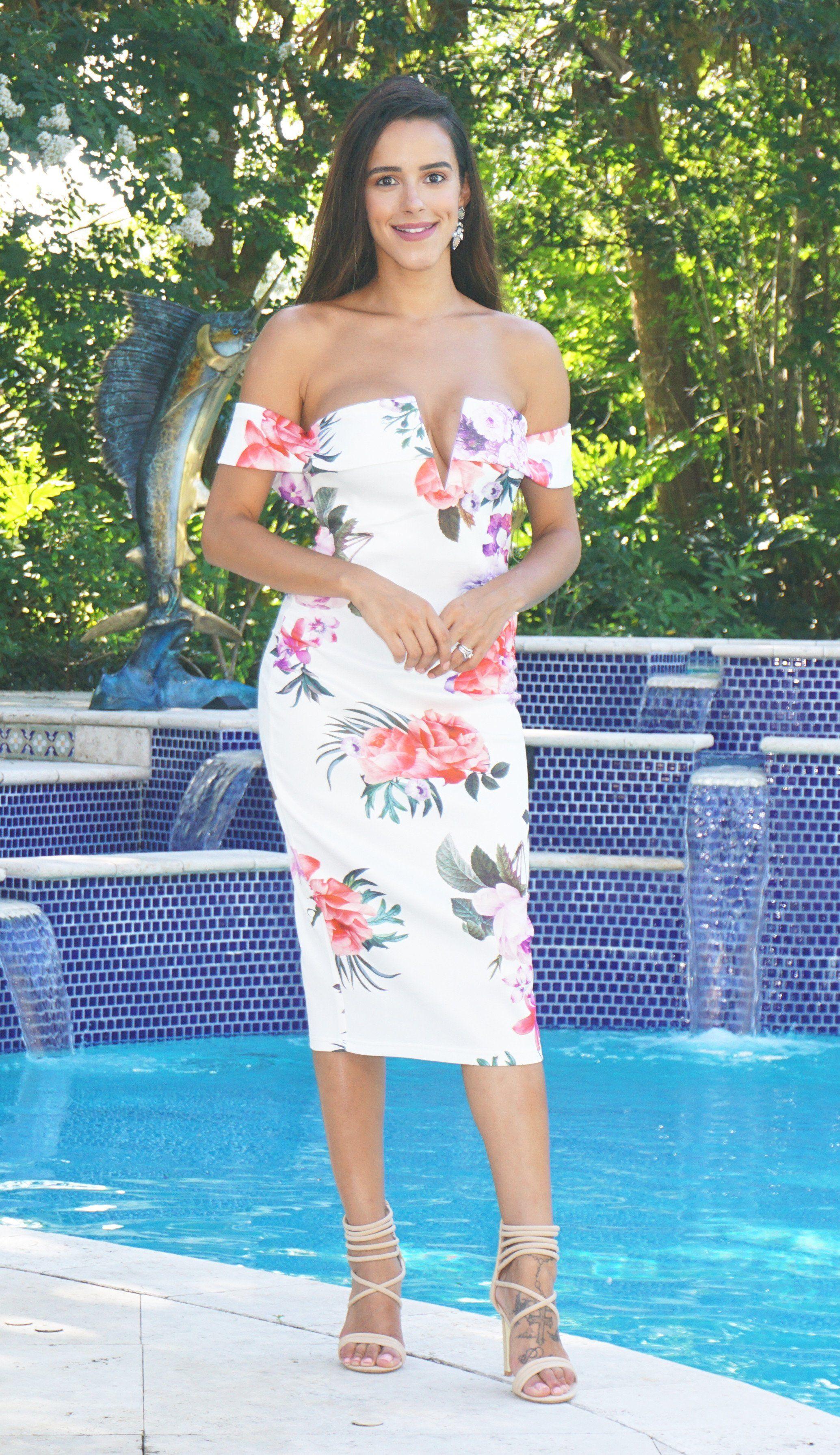 3ce15f95b7f Bardot Bodycon Dress - Pink Floral – J Namor