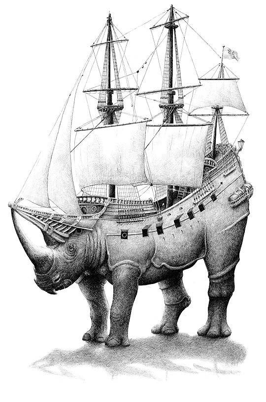 Dibujo Surrealista De Redmer Hoekstra Ilustracion Pinterest