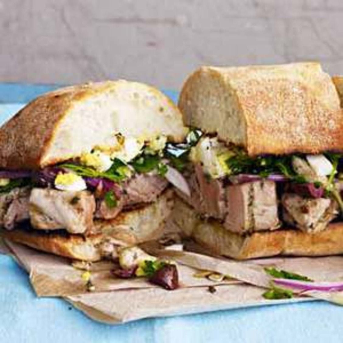Grilled tuna pan bagnats recipe with images grilled