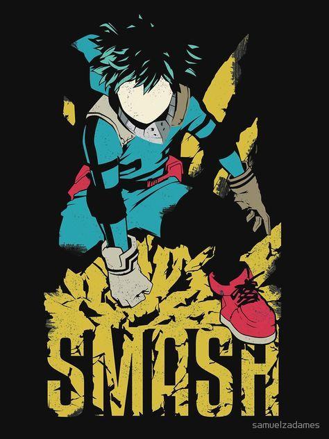 Camiseta esencial ''Deku - SMASH' de samuelzadames