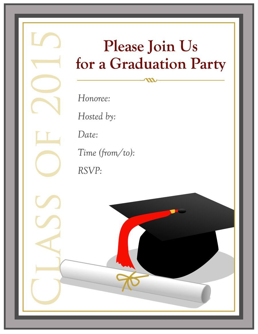 Graduation Invitation Templates 40 Free Graduation