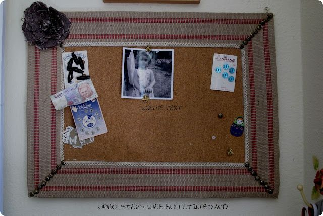 upholstery webbing bulletin board tutorial
