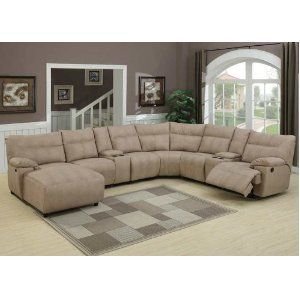 8pc Modern Sectional Reclining Leather Sofa Ac Samuel Sectional