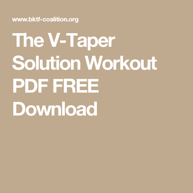 The v taper solution workout pdf free download excersice the v taper solution workout pdf free download fandeluxe Image collections