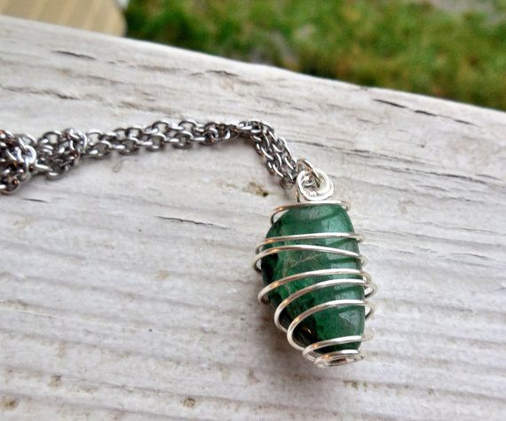 Aventurine Green Tumbled Gemstone Necklace Green Quartz Stone