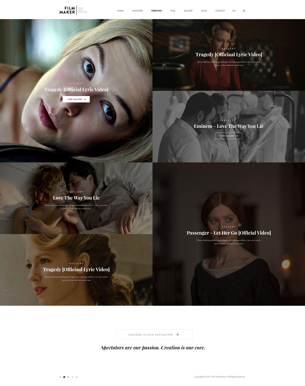 FilmMaker WordPress Theme: Film Studio - Movie Production