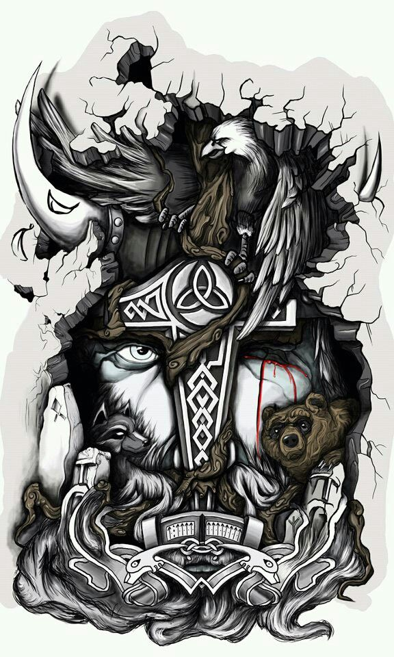 Norse Mythology Arm Piece For Him Tattoo S Norse Tattoo