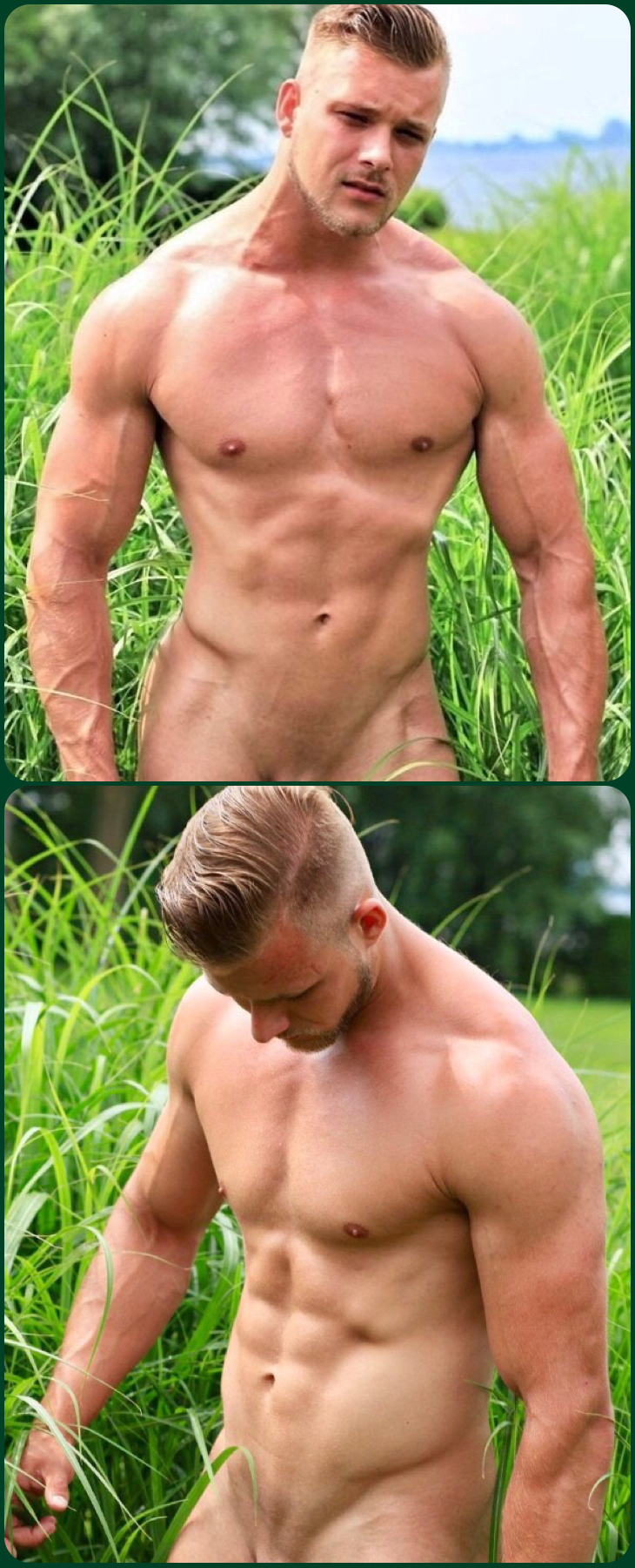 Muscle men plowing