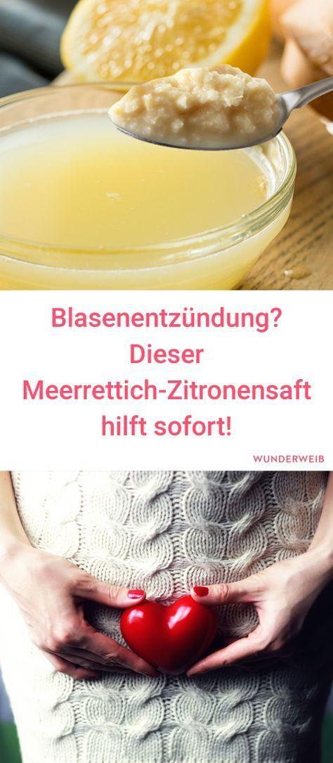 Hausmittel bei Blasenentzündung: Meerrettich-Zitronensaft hilft! #healthyliving