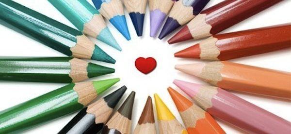 coloured pencils heart - Google Search