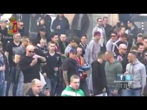 Roma Feyenoord Guerriglia Scontri Polizia Tifosi Piazza di Spagna