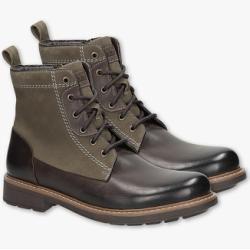 C&A Bama-Leder-Boots, Braun, Größe: 45 C&A