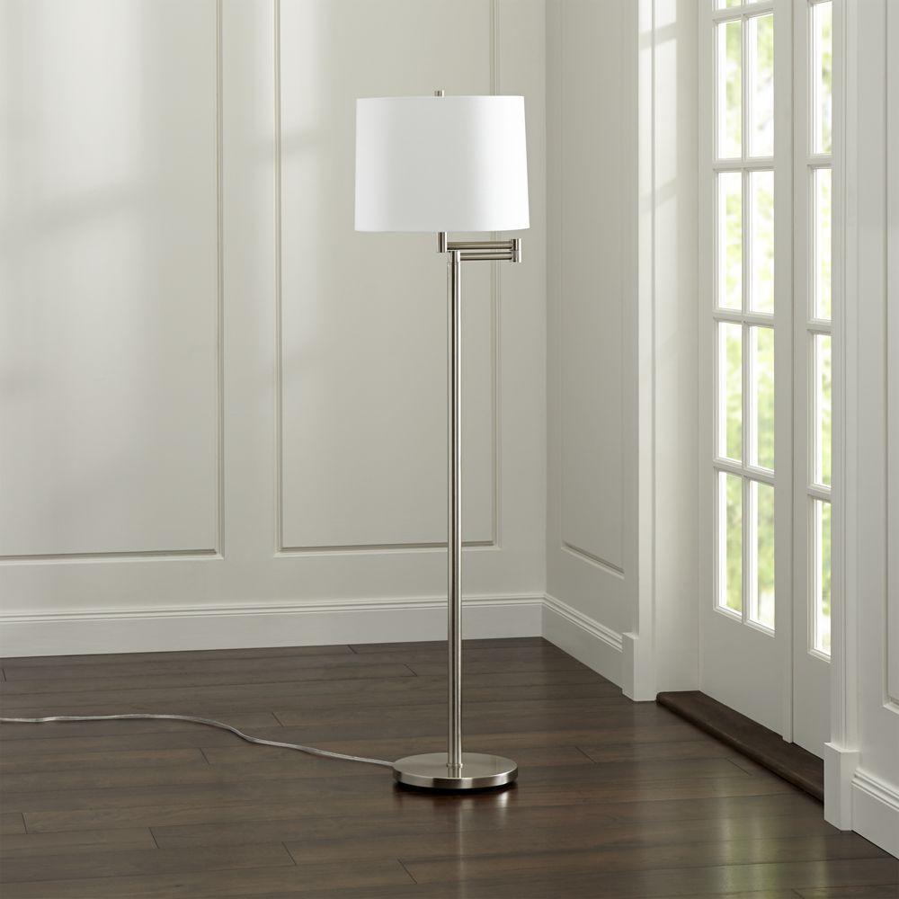 Metro II Brushed Nickel Swing Arm Floor Lamp Floor lamp