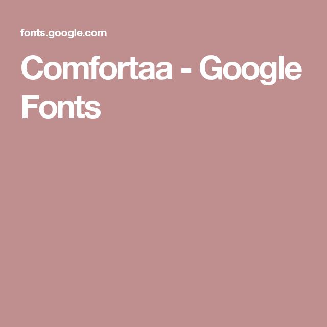 Comfortaa - Google Fonts | //Type Crush// | Google fonts, Fonts, Google