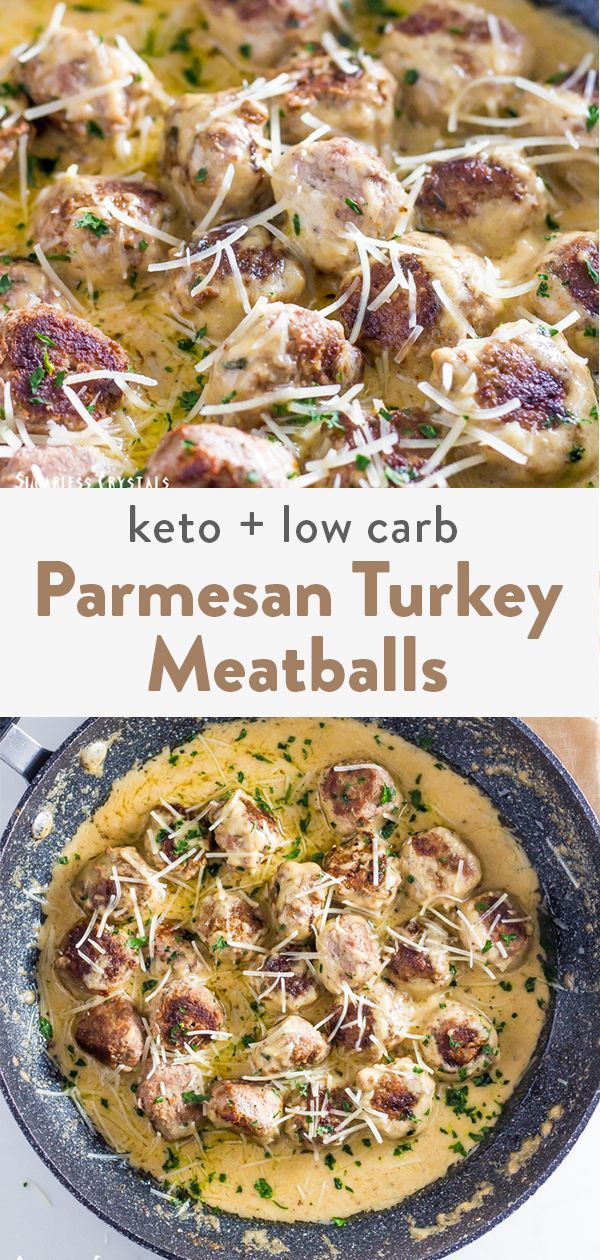 Parmesan Keto Turkey Meatballs (Low Carb, Gluten Free)