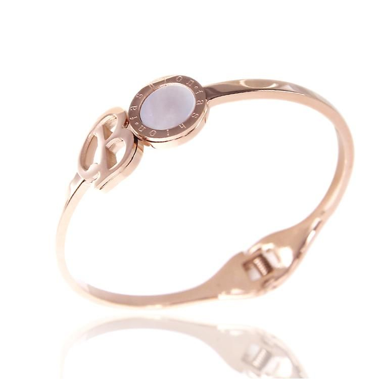 New Baby Pearl Shell Round 14K Rose Gold Bangle | Buy Wholesale On Line Direct from China