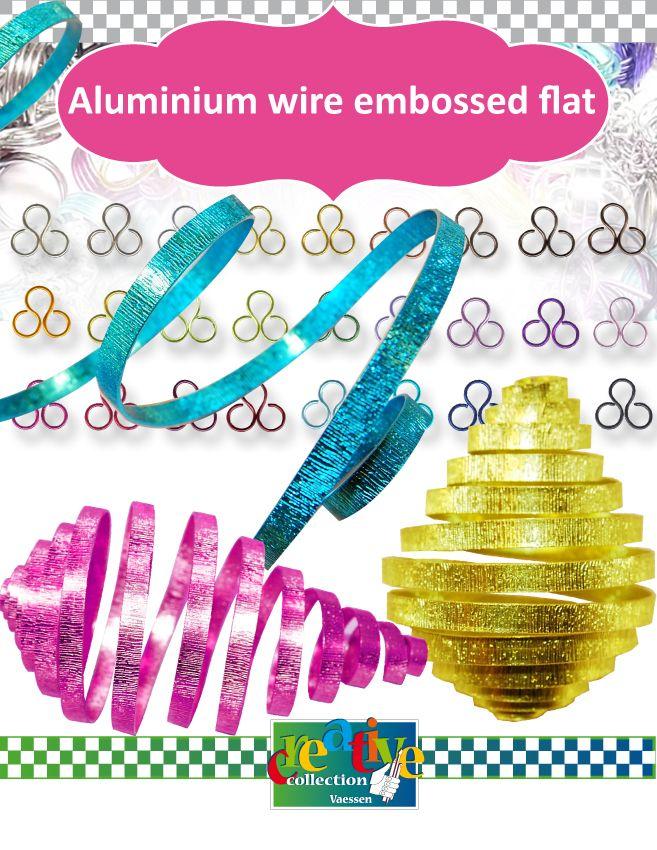 Vaessen Creative • Aluninium wire, embossed flat | jewelry making ...