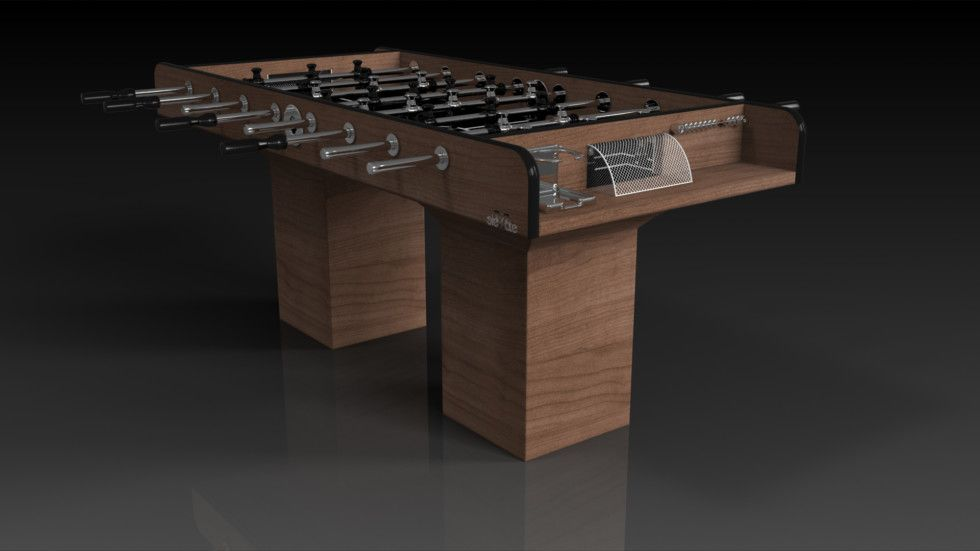 Trestle Foosball, Solid Walnut. Minimalist Design Meets Opulent Elegance In  The Trestle Foosball Table In Solid Walnut. Detailed With A Regulation Top  For ...