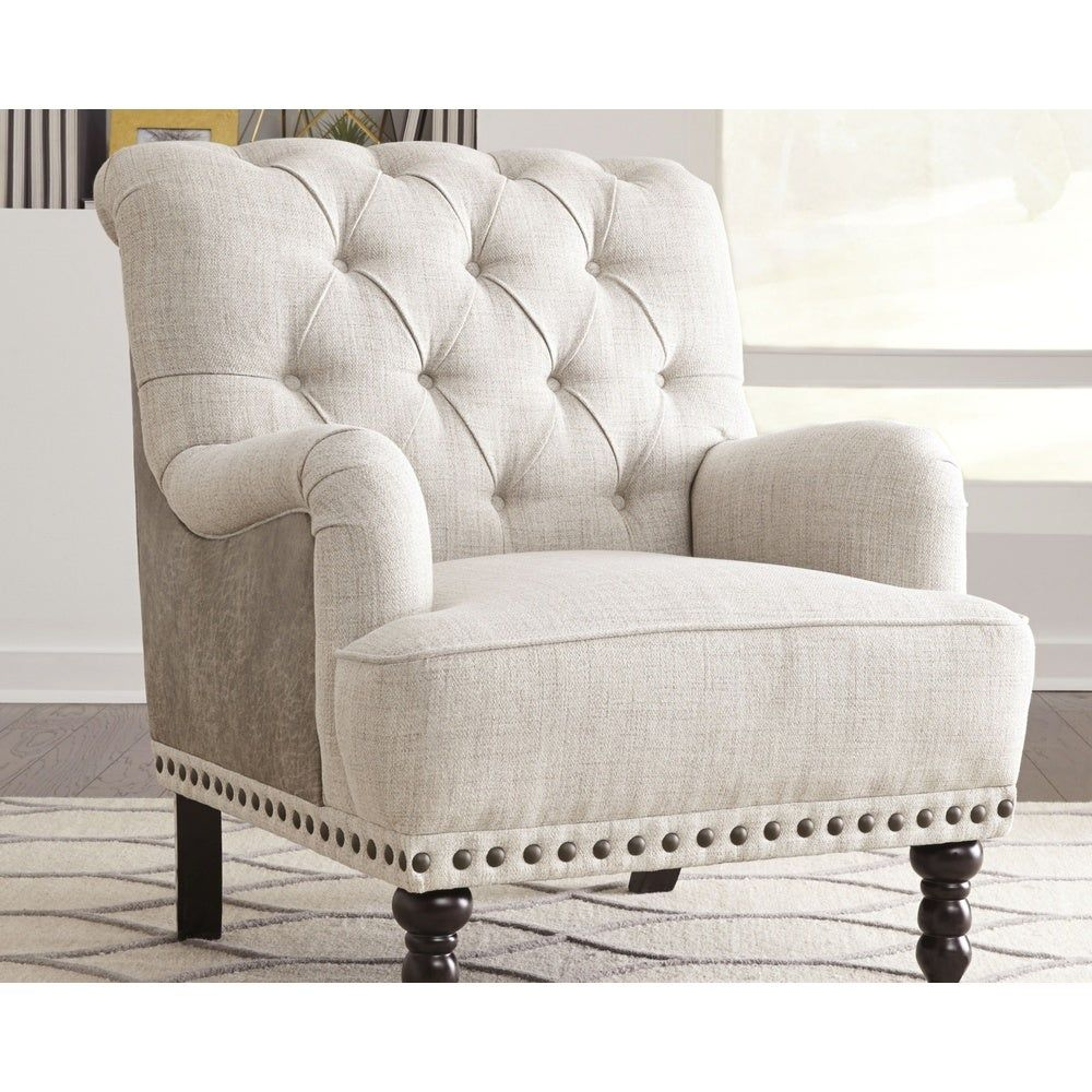 Best Tartonelle Vintage Casual Taupe Accent Chair Ivory Taupe 400 x 300