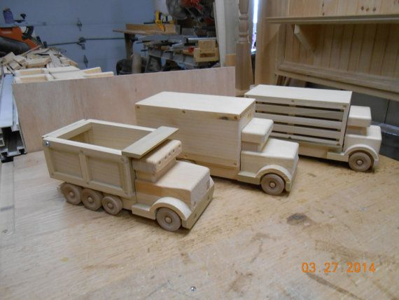 Handcrafted Wood Toy Trucks By Kkrventuresllc On Etsy 24 99 Baby