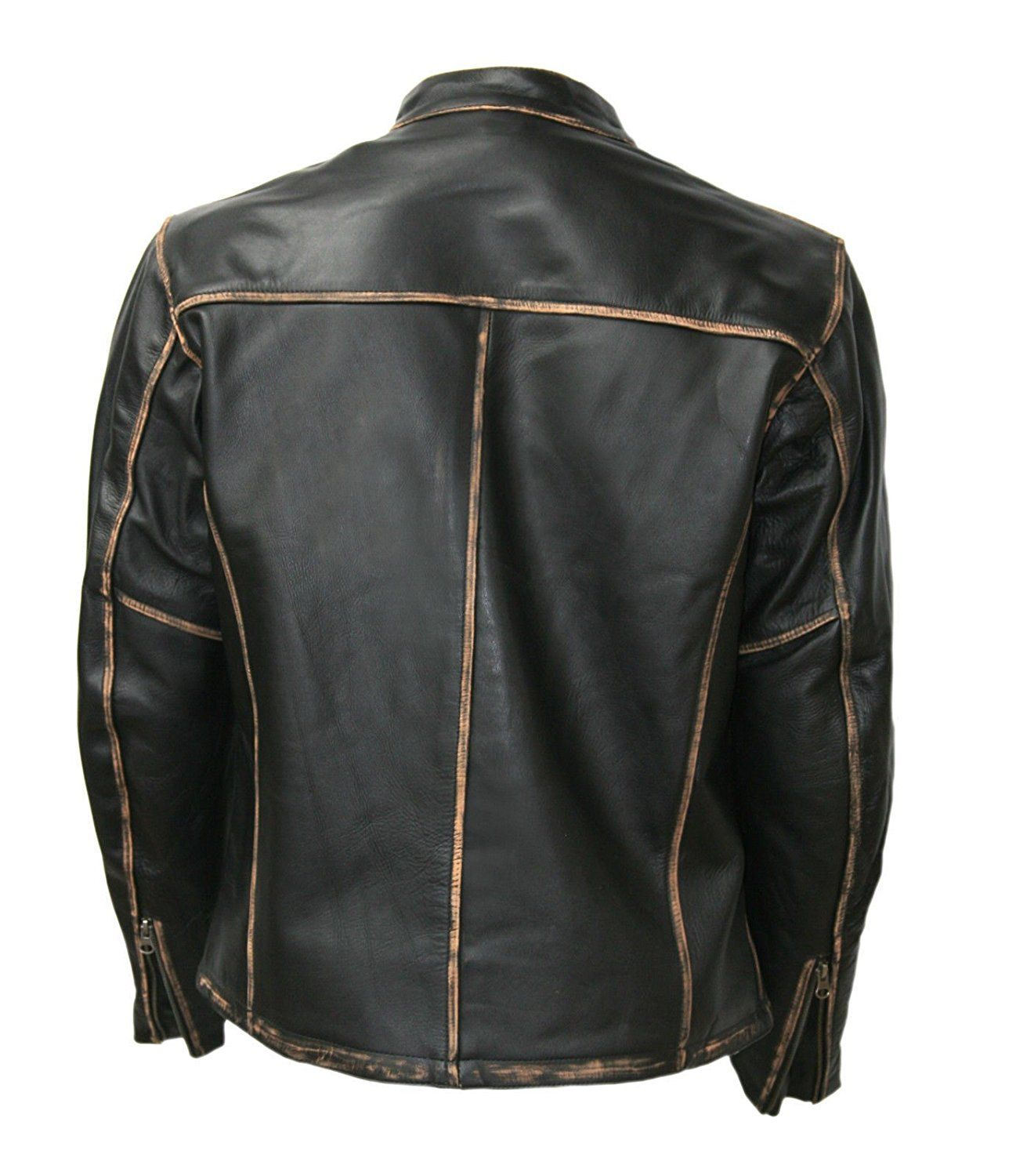 BIKER MOTORCYCLE FADED SEAMS VINTAGE LEATHER JACKETS FOR SALE | JACKETS FOR SALE | JACKETS FOR MENS at Amazon Men's Clothing store: