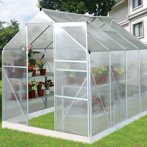 Serre Jardin Polycarbonate Hortensia 4 8m Estufa No Quintal Construir Uma Estufa Pequena Estufa