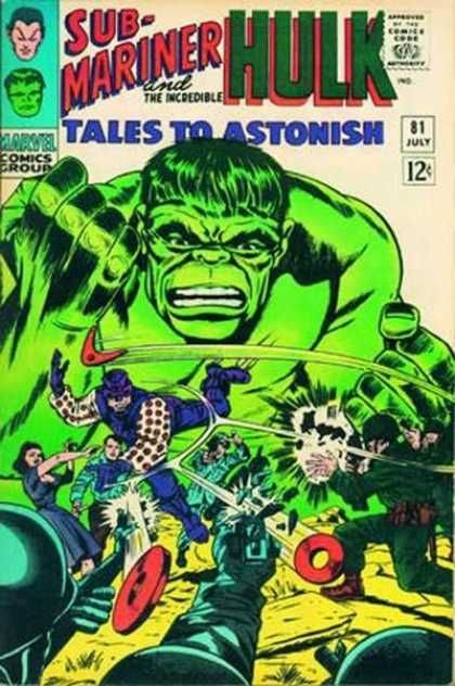 Tales to Astonish 81 Sub-Mariner Hulk silver age marvel comics group