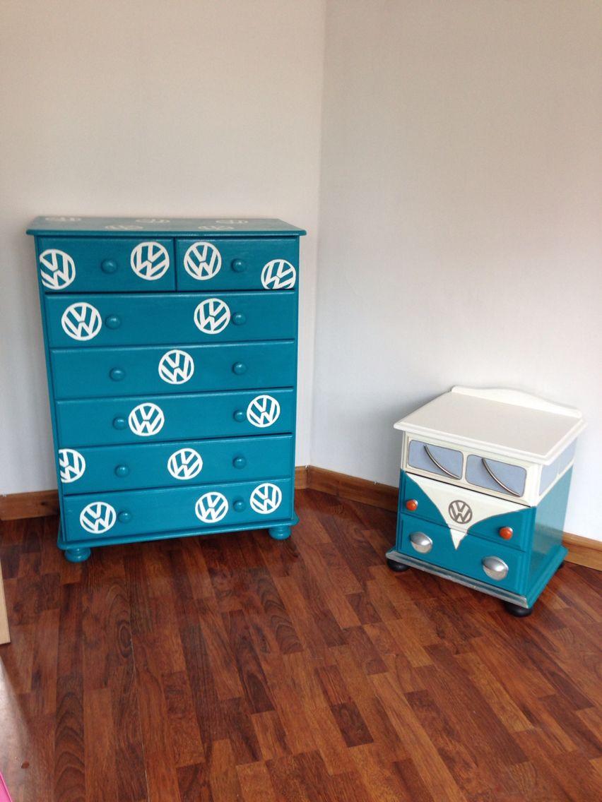 vw hand painted bedroom furniture details vw pinterest. Black Bedroom Furniture Sets. Home Design Ideas