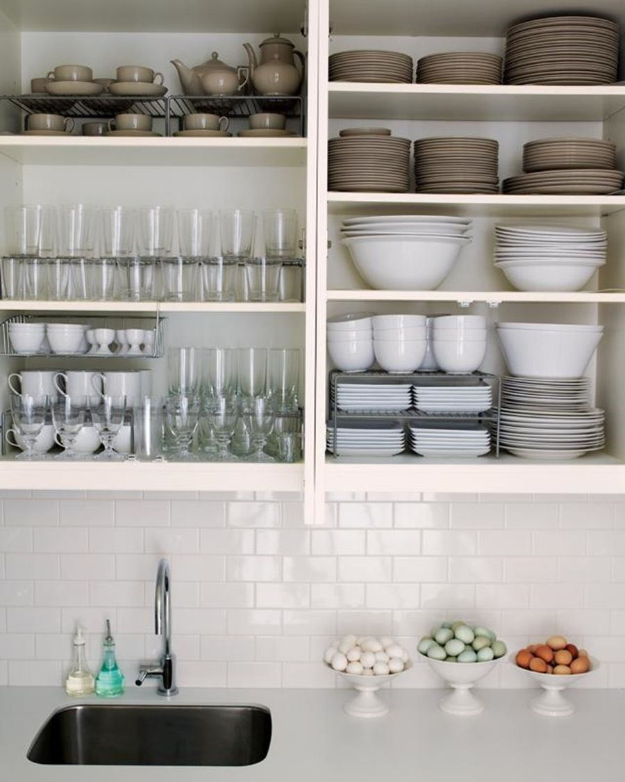 How To Organize Kitchen Cabinets Furniture Pinterest - How to organize kitchen cabinets martha stewart