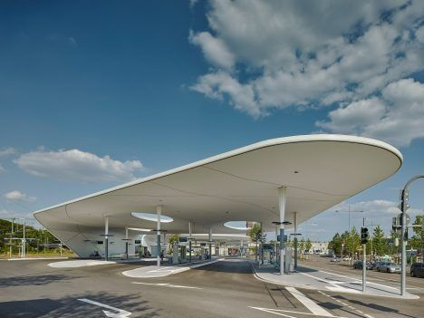 waaaat? | Shell-like roofs provide shelter at Pforzheim Central Bus Station | Architecture