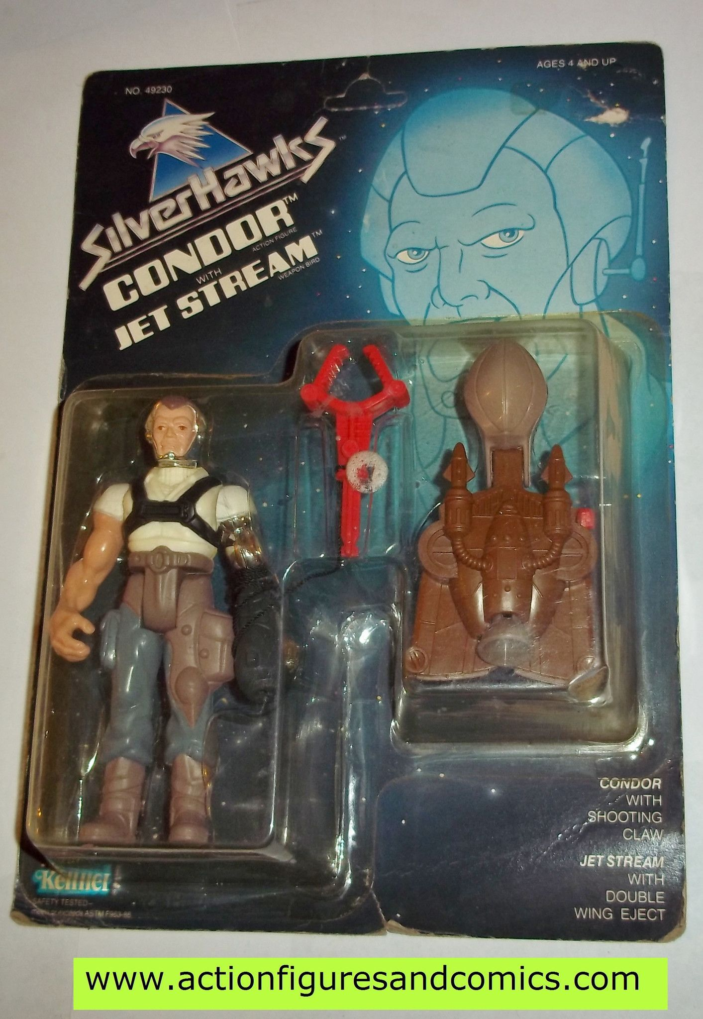 Claasic vintage toys vintage toys second shout out http www - Silverhawks Condor With Jet Stream 1987 Action Figure Moc Mip Mib Kenner
